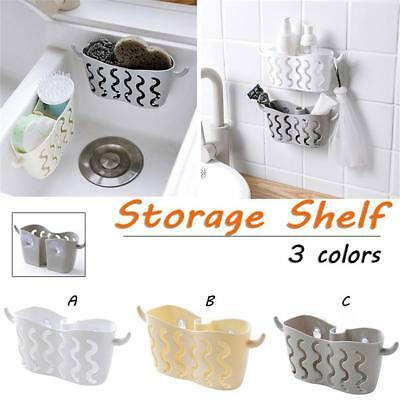 Sink Shelf Soap Sponge Drain Rack Bathroom Holder Kitchen Storage Suction Cup