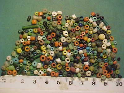 over 250 small Genuine ancient  Roman beads circa 100-400 AD