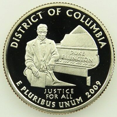 2009 S Deep Cameo Clad Proof District of Columbia Washington Quarter (B05)