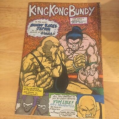 KING KONG BUNDY signed comic book + signed in store promo card WWE