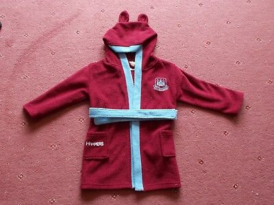 West Ham United hooded dressing gown 18-24 months