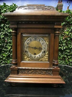 Large Late 19th Early 20th Century Bracket / Mantle Clock / Westminster Chimes