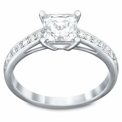 Swarovski Clear Crystal Square Engagement Ring ATTRACT RING Medium/55/7 -5032916