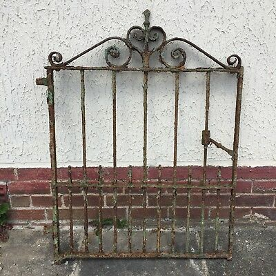 Antique Old Wrought Iron Gate Very Heavy