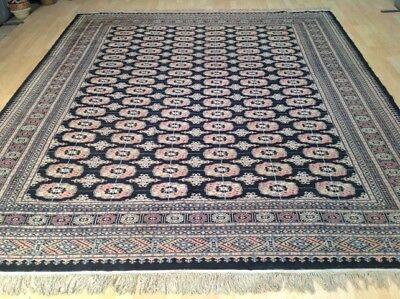 """Large Bokhara CARPET RUG Hand Made Traditional Oriental WOOL 10ft x 8ft 4"""""""