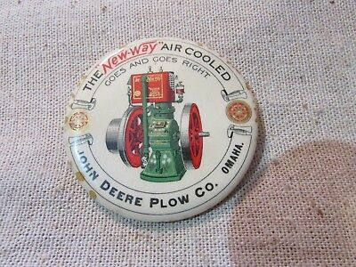 "JOHN DEERE PLOW CO ""NEW-WAY"" Air Cooled Engine pocket mirror advertising"