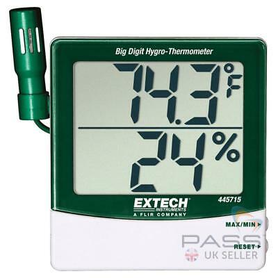*NEW* Extech 445715 Humidity & Temperature Indicator w/ Remote Sensor / UK Selle