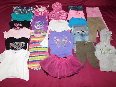 22- piece Girls' Size 6/7 and 7 Mixed Summer Clothes Lot Place Old Navy Justice