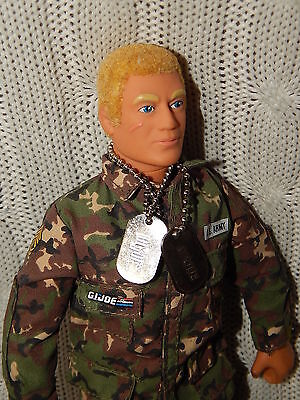 GI JOE – Talking Action Figure Doll with REAL BLONDE HAIR #T607 *MINT condition*