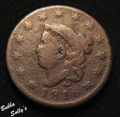 1816 Coronet Head Large Cent <> VERY GOOD