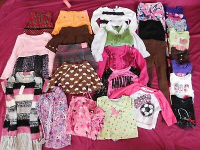 25-piece Girls' Size 6 to 7/8 Fall Winter Clothes Lot Gymboree Justice Place