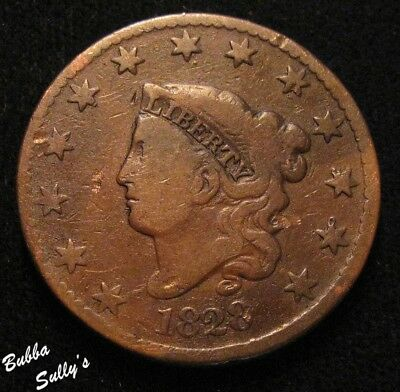 1828 Coronet Head Large Cent <> FINE