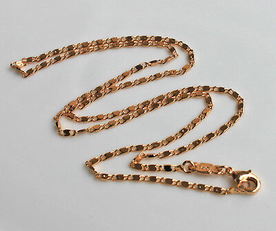 18K White OR Yellow Gold Filled - 17.7'' Chain Tile Lady/Men Necklace (1 Piece)