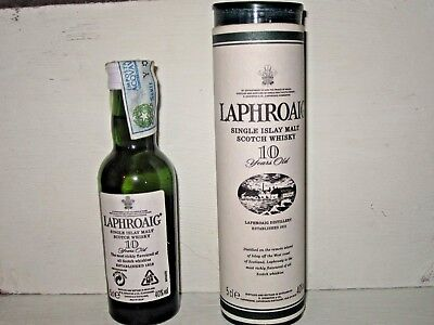 miniature mignon whisky LAPHROAIG 10 years SINGLE MALT