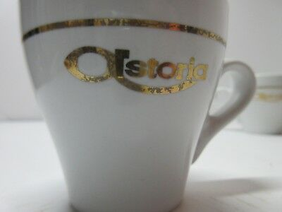 Astoria Gold striped with logo espresso cups Cups LOT OF 4
