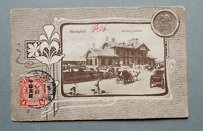 AK Shanghai Railway Station Ansichtskarte 1913 China 4 Cents