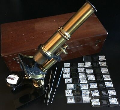 Theodor Posner's Lacquered Brass Compound Microscope