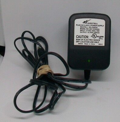 Westell Power Supply AM-105900AL  Input 117VAC Output 10.5VDC