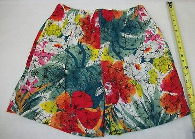 Vintage 1980's 90's BonJour Women's Tropical Floral Shorts XL