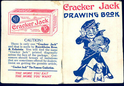 1910s CRACKER JACK POP CORN CONFECTION ADVERTISING TOY PRIZE DRAWING BOOK