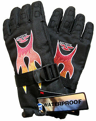 Athletic Works Boy's Gloves 3M Thinsulate Insulation Waterproof Black Size 12-14