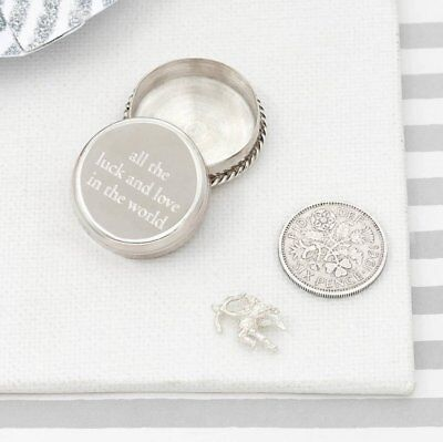 Tales From The Earth All The Luck And Love Silver Christening Keepsake Box Baby`