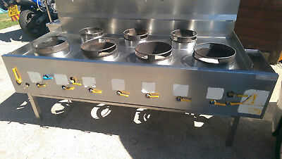 WOK  7 BURNER natural gas,cooker for Commercial Restaurant,2 x water  cleaners