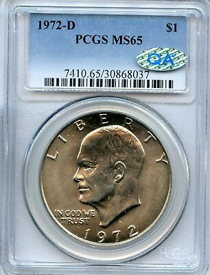 Great 1972-D MS 65 PCGS United States Eisenhower Dollar Coin $ Coin EJ490