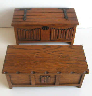 Vintage Wooden Chest Musical Jewellery Box x2 TALLENT OF OLD BOND STREET England