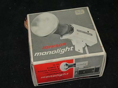 Vintage Photography JOHNSON MONOLIGHT in Original Box For Eumig & Kodak Super 8