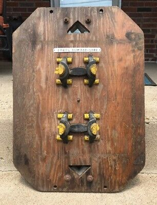 Vintage Industrial Age Wood Foundry Mold Altered Art Steampunk Man Cave Decor