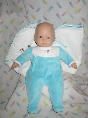Pleasant Company Bitty Baby Doll - Blonde Hair - Blue Eyes + towel and blanket