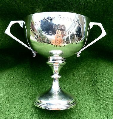 "SOLID (ENGLISH) SILVER TROPHY CUP ""D.I. KHAN GYMKHANA POLO SCURRY 1922"" -4.51 oz"