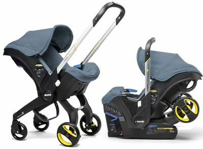 Doona Infant Baby Car Seat Travel Stroller Marine Navy with Latch Base NEW