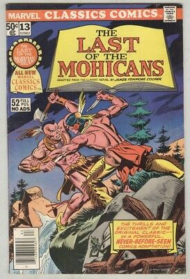 Marvel Classics Comics #13 1976 VG/FN The Last of the Mohicans