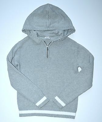 Gymboree Boys Sweater M 7-8 Star Brights Gray 1/4 Zip Pullover Hoodie NH1