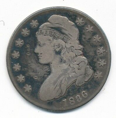 1836 Capped Bust Silver Half Dollar Exact Coin Shown - FREE Shipping