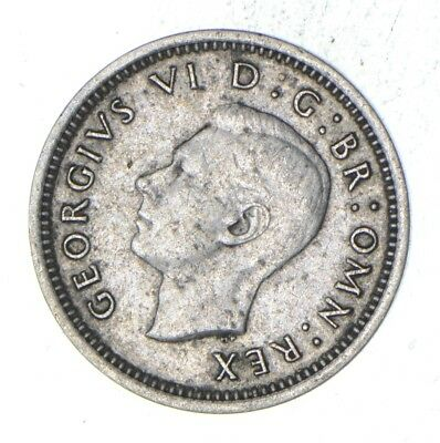 Roughly Size of a Dime - 1940 Great Britain 3 Pence - World Silver Coin *015
