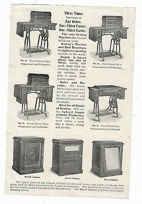 Old Advertising Leaflet Wheeler & Wilson Mfg Co Sewing Machines Bridgeport CT