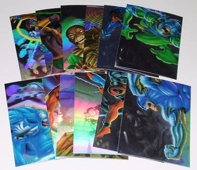 1995 FLAIR MARVEL ANNUAL HOLOBLAST Complete Set #1-12 LE Trading Cards NEAR MINT