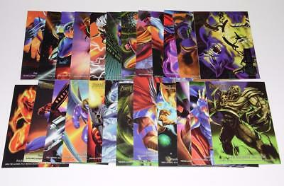 1995 FLAIR MARVEL ANNUAL POWERBLAST Complete Set #1-24 Trading Cards - NEAR MINT