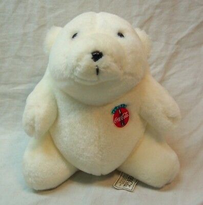 "VINTAGE Coca-Cola COKE POLAR TEDDY BEAR 6"" Plush STUFFED ANIMAL Toy 1993"