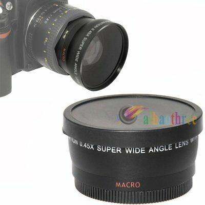 43mm 0.45x Magnification Wide Angle Macro Conversion Lens Close-up For Camera