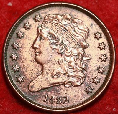 1832 Philadelphia Mint Copper Classic Head Half Cent 13 stars