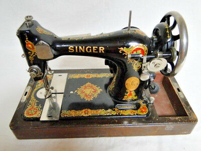Antique 1910 Singer 15  Sewing Machine With Vintage Singer Foot Pedal!