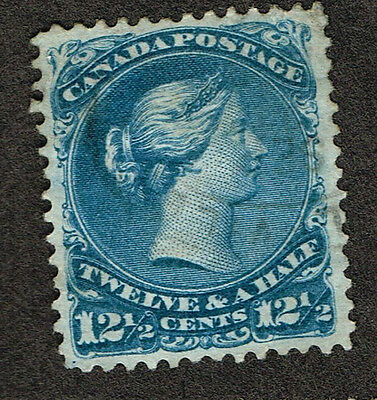 Canada Large Queen #28 Vf Wolfville Cancel. (Uje28,2