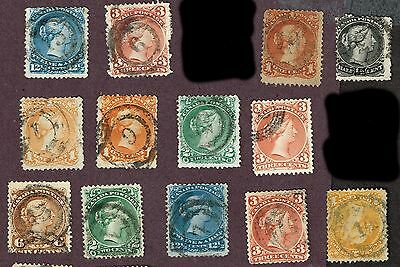Canada Large Queen Fine Numeral  4-Ring Cancels     (Uly15,1