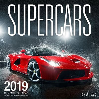 Supercars 2019 Wall Calendar, Sports Car by Motorbooks