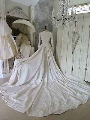FRANKREICH 20s ANTIK BRAUTKLEID Vintage Wedding Dress french Shabby Brocante
