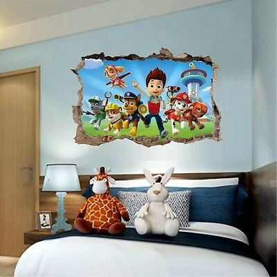 PAW PATROL JUNGLE WALL STICKERS 14 Dogs Puppies Decals Chase Marshall Rubble NEW